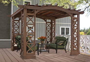 Meridian 12 X 12 Wood Gazebo With Aluminum Roof Yardistry