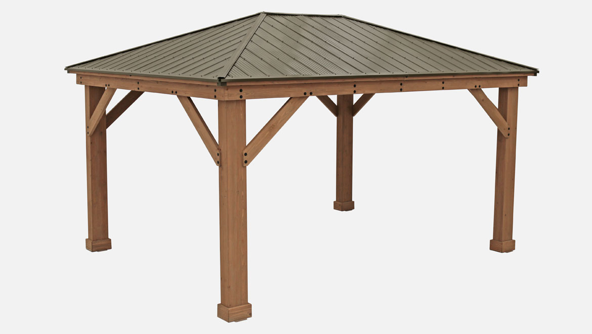 12 x 16 Wood Gazebo With Aluminium Roof - Yardistry Structures Schematic Diagram Of A Gazebo on diagrams of parks, diagrams of generators, diagrams of kitchens, diagrams of ponds, diagrams of gliders, diagrams of bridges, diagrams of plants, diagrams of trees, diagrams of fireplaces, diagrams of buildings, diagrams of landscaping, diagrams of steps, diagrams of churches, diagrams of barns, diagrams of decks, diagrams of roofs, diagrams of chairs, diagrams of flowers, diagrams of greenhouses, diagrams of houses,