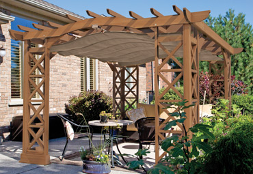 Preston Pergola With Retractable Sunshade