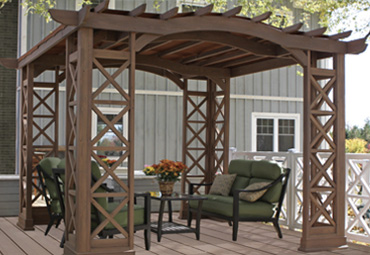 Preston Pergola With Snap-On Sunshade