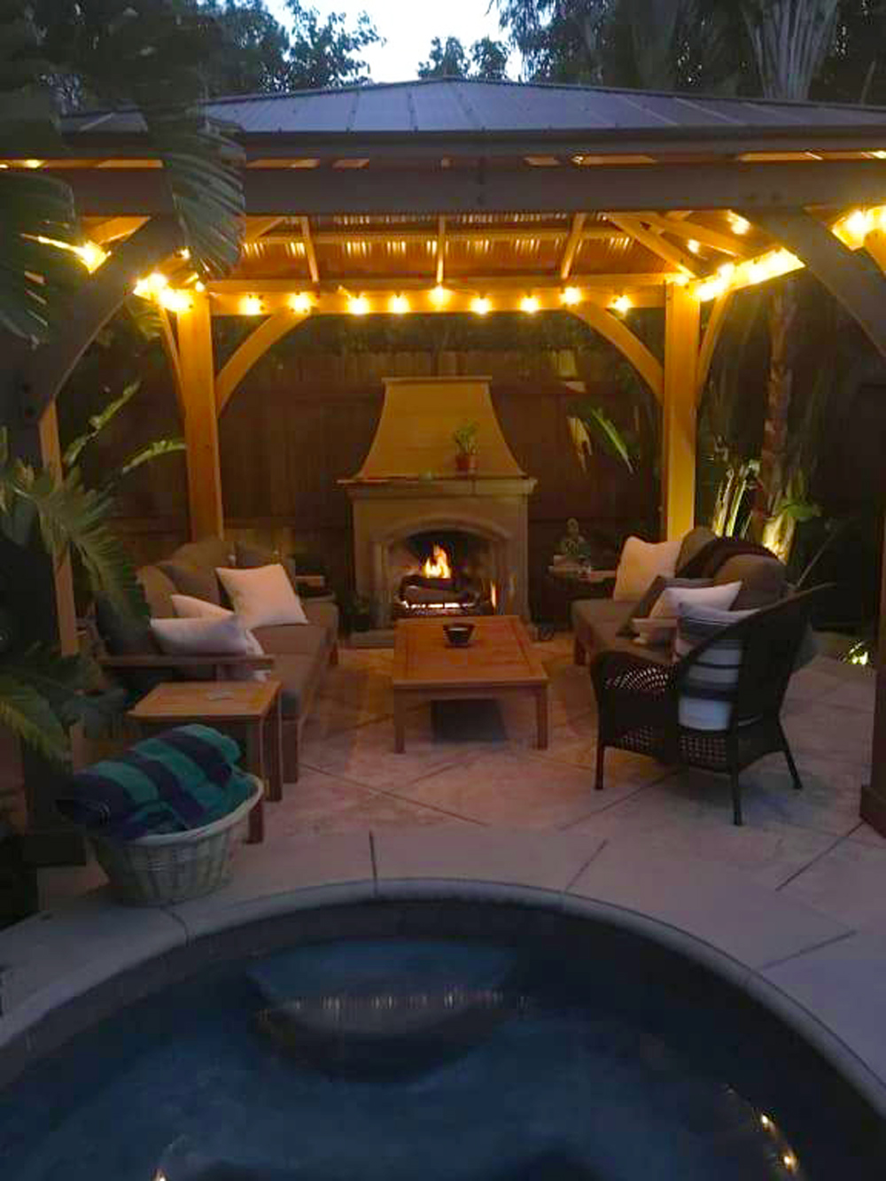 Now We Re Outside Way More 2 Outdoor Fireplaces Yardistry Structures Gazebos Pavilions And Pergolas