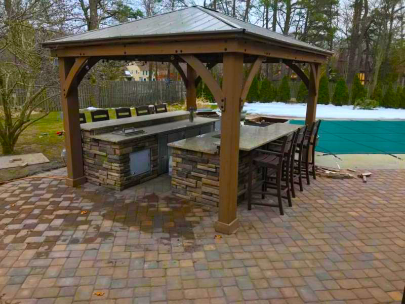 These 10 Outdoor Kitchens Will Blow You Away Yardistry Structures Gazebos Pavilions And Pergolas