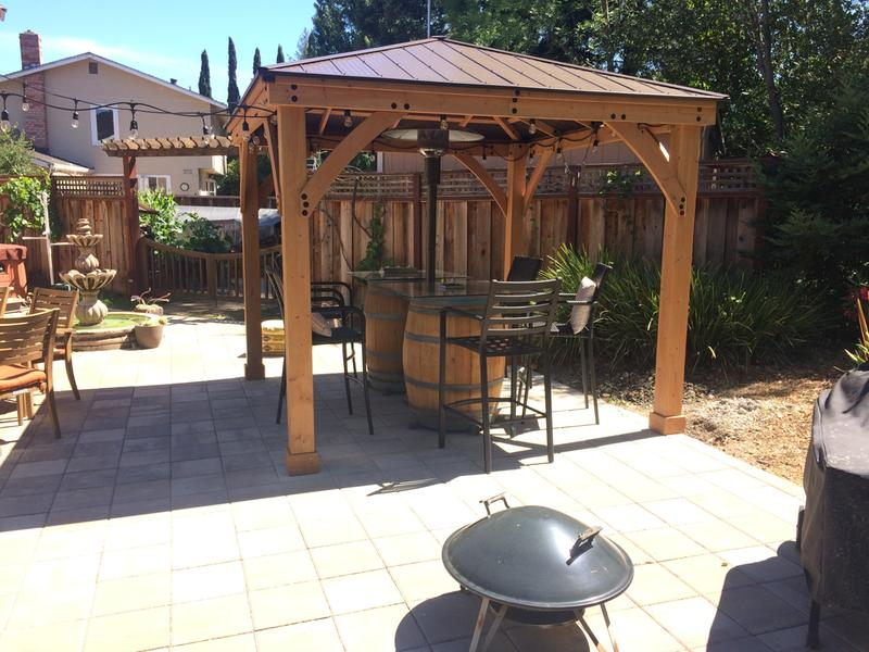 Pictured here is the 12 x 12 Wood Gazebo With Aluminium Roof