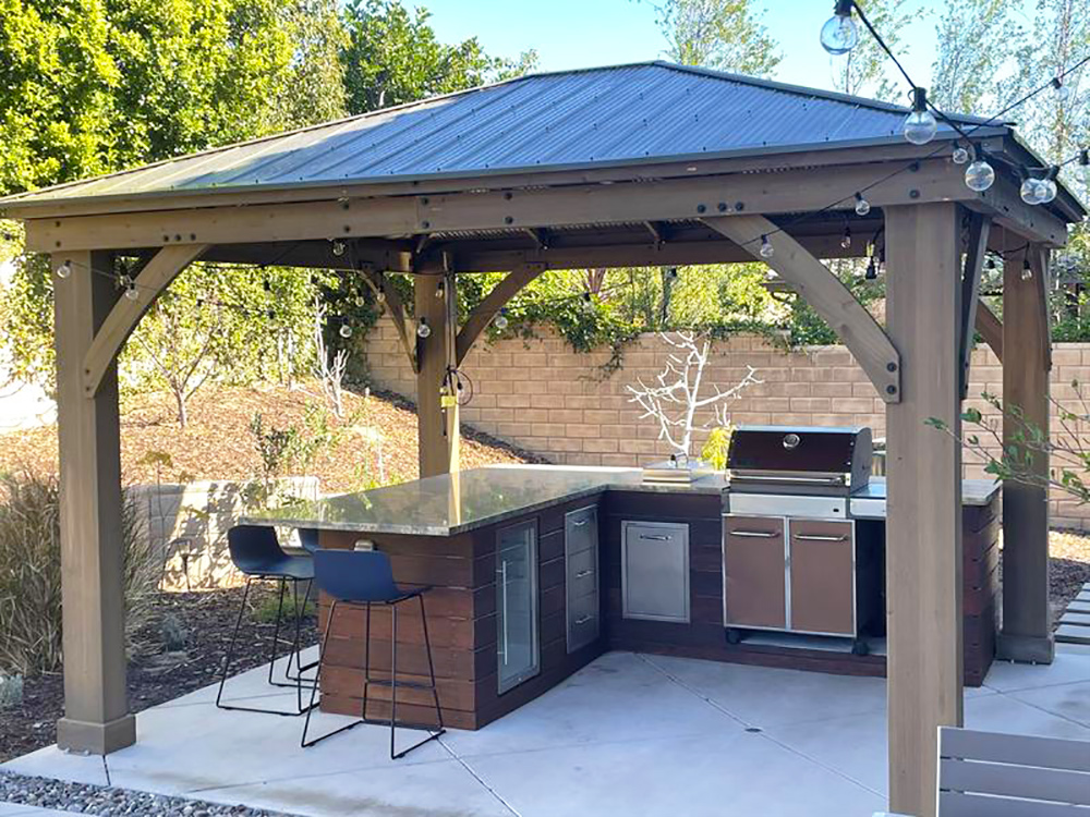 Great Shade For Our Outdoor Grilling Area