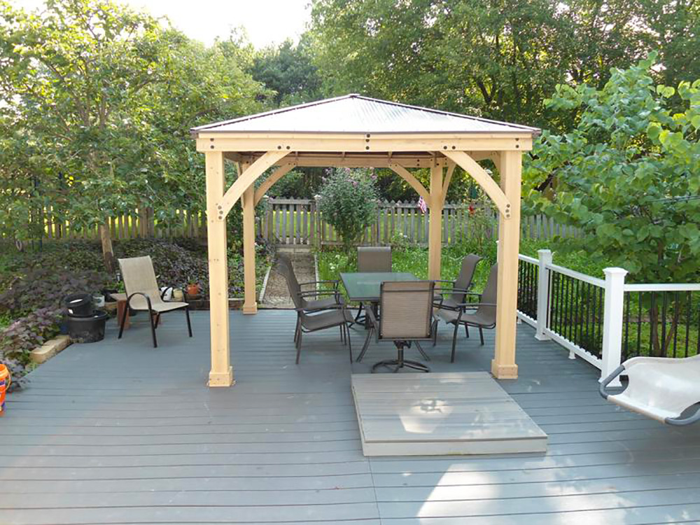 """Pictured here is the <a href=""""https://www.yardistrystructures.com/10-x-10-meridian-gazebo-kit/"""">10 x 10 Meridian Gazebo</a>"""